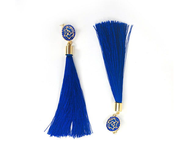 Rhinestone And Silky Tassel Earrings Sales