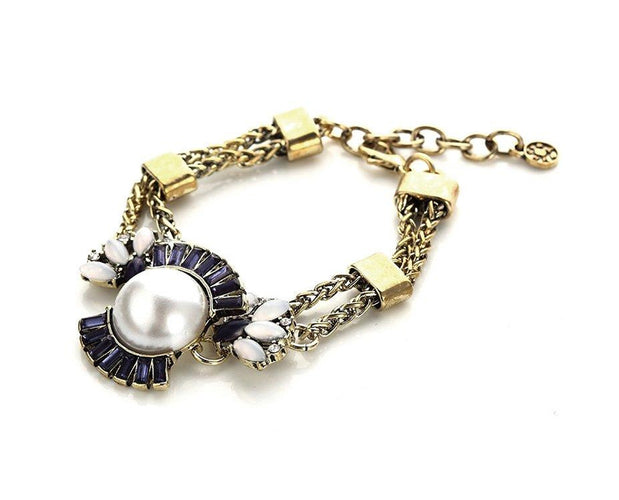 Blue and White Statement Bracelet Sales