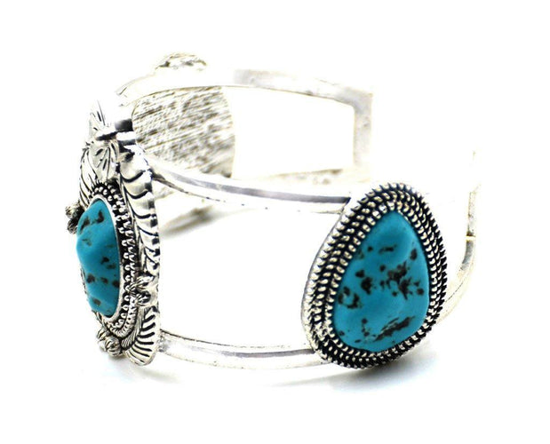 Turquoise Blossom Cuff Sales
