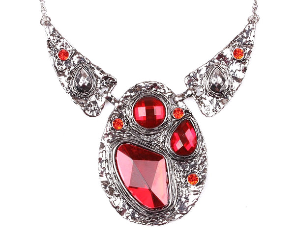 Ruby Red Statement Necklace