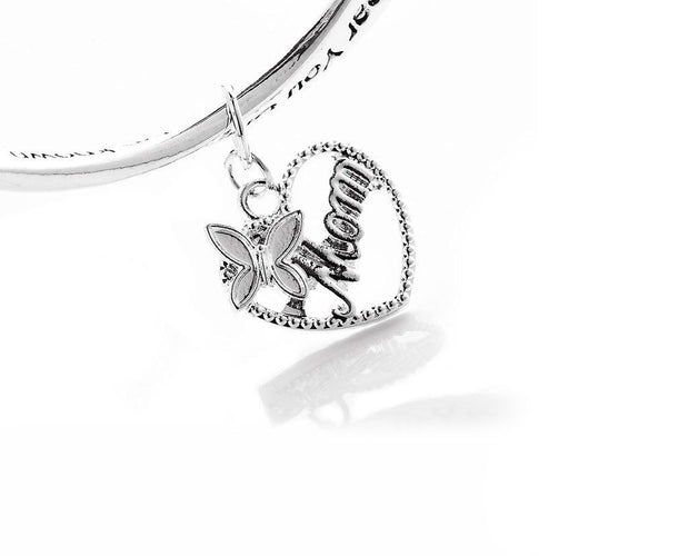 Mother Poem Butterfly Charm Bracelet