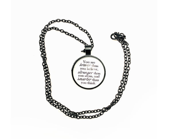 Inspirational Quote Embedded Spherical Pendant