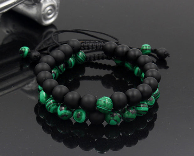 Adjustable Malachite Bracelet with Hangings Sales