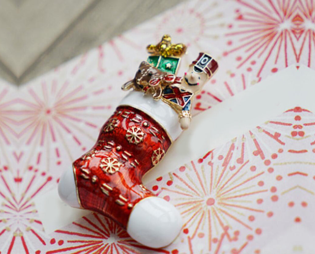 Gifts In Socks Christmas Special Brooch