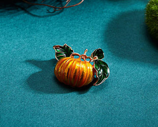 Merry Christmas Pumpkin Brooch