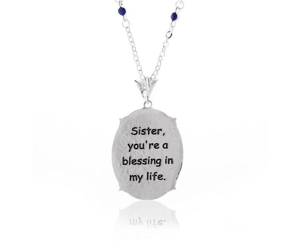 Sister Blessing Cameo Necklace