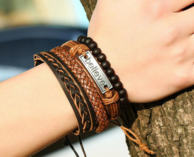 Chic Wood-O-Mate Inspirational Bracelet