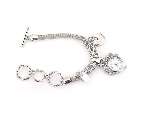 Be Still My Heart Watch Bracelet With Initial and Birthstone