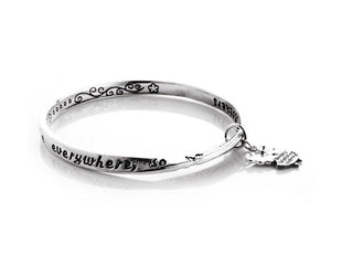 Mother Love Angel Charm Bangle