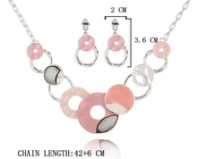 Pink Disco Necklace Set