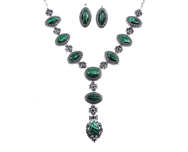 Malachite Fit for a Queen Necklace Set