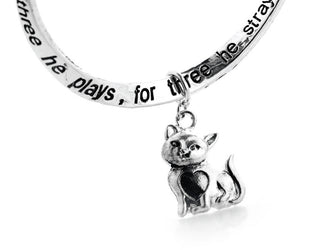 Cat's Life Engraved Poem Bracelet