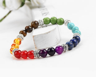 Magical Oplascent Beaded Rainbow Bracelet