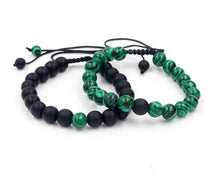 Adjustable Green Beryl-beaded Bracelet with hangings