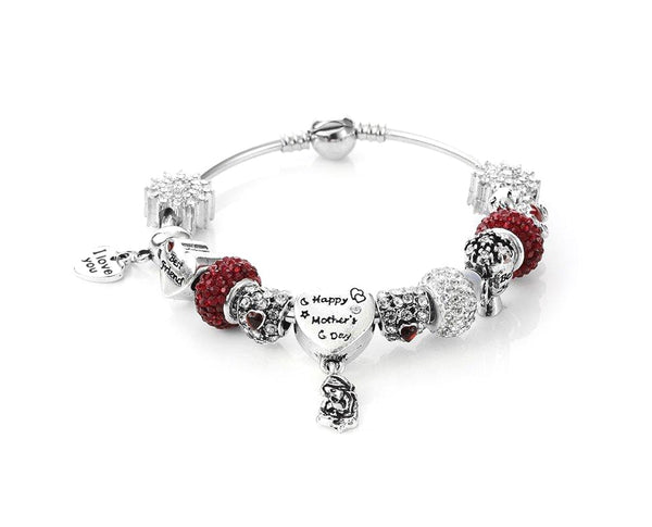Happy Mothers Day Charm Bracelet