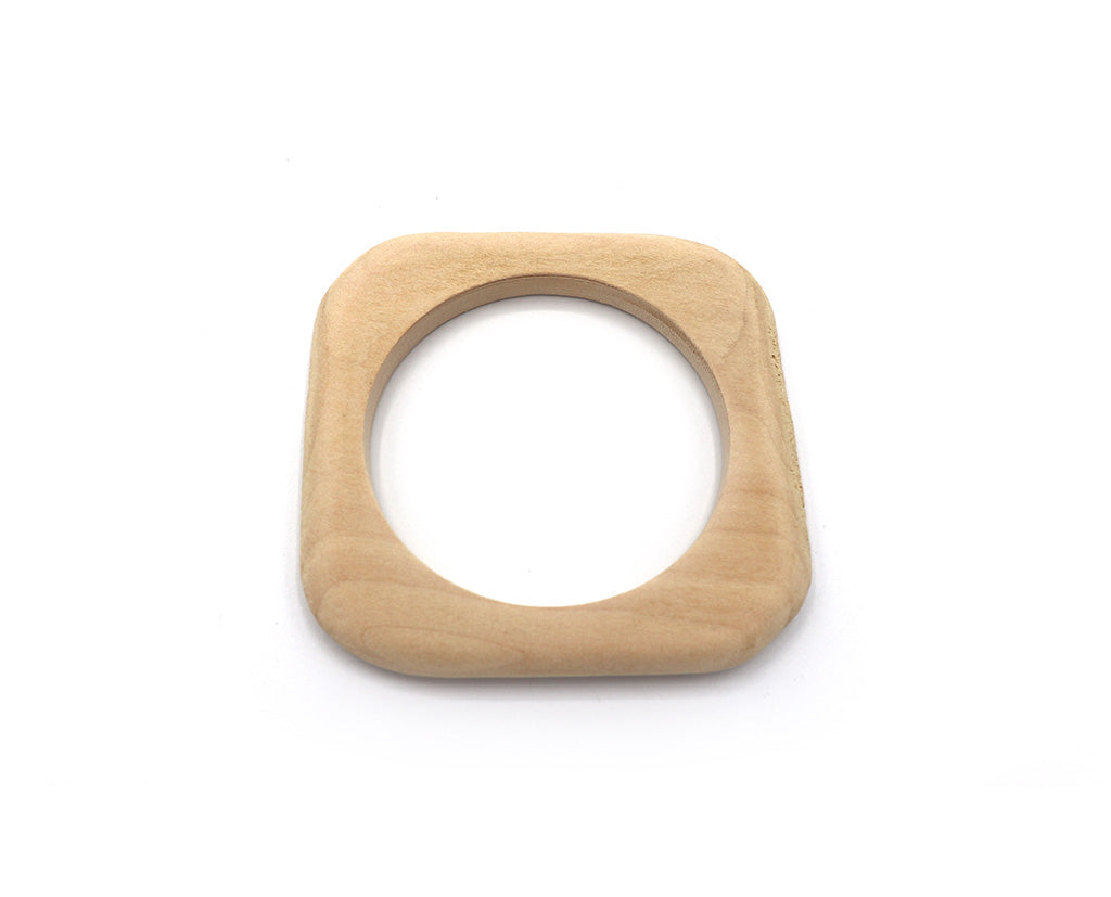 Round 'n Square Wooden Bangle
