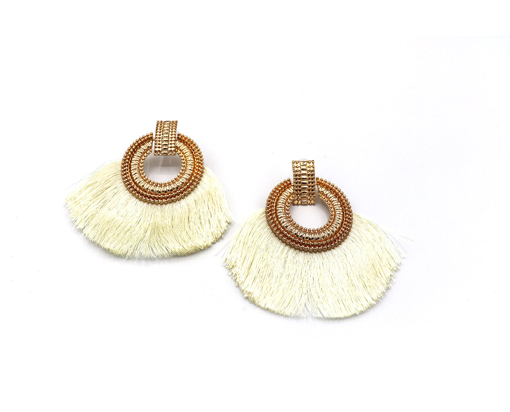 Circle 'n Fringe Earrings