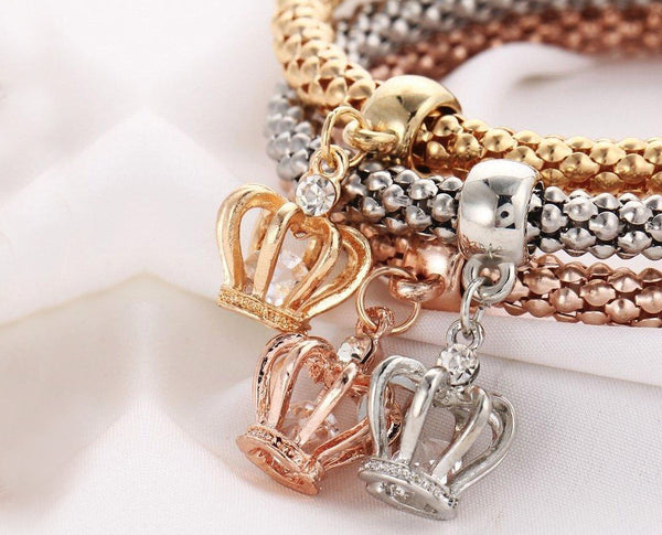 Crown Bracelet Charm Set