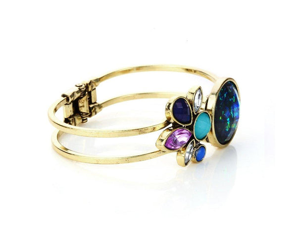 Multicolored Petal-style Front-open Trendy Bangle