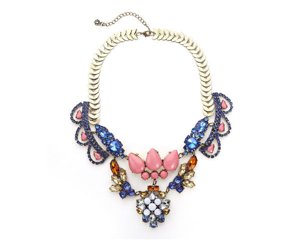 Regal Rhinestone Statement Necklace