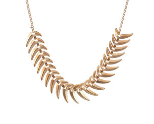 Fishbone Choker Necklace