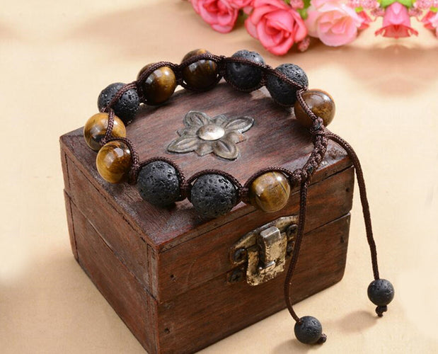 Lava Stone and Tiger Eye Bracelet Sales