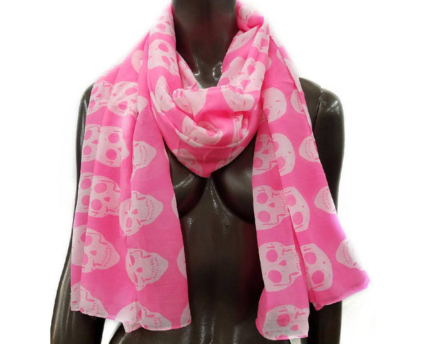 Raj Scarf Cotton Skull
