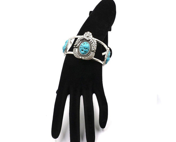 Turquoise Blossom Cuff
