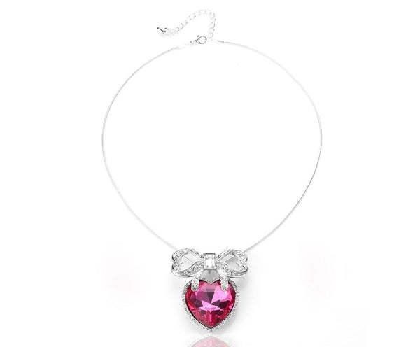 Crowned Princess Lustrous Pink Necklace Set