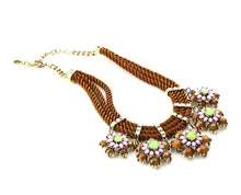 Multilayered Exclusive Floral Hanging Neckpiece