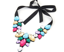 Dazzling Crystal Embedded Statement Necklace
