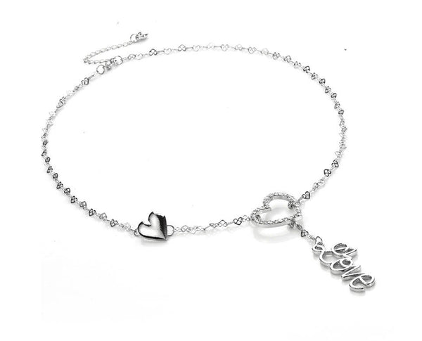 Love Heart Chain Necklace Sales