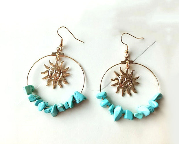 Golden Sun Hoop Earrings