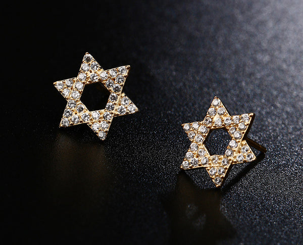 Crystal Star Earrings