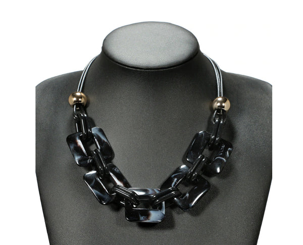 Contemporary Geometric Statement Necklace