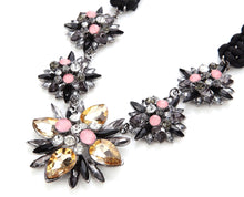 Color Scheme Pastel Pink Citrine Dimensional Statement Necklace