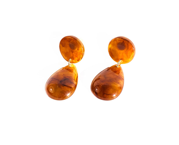 Amber Simply Feminine Teardrop Earrings