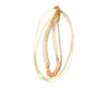 Tri Layered Pearl & Golden String Necklace