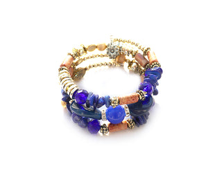 Deep Violet Boho Multi Layer Beaded Bracelet
