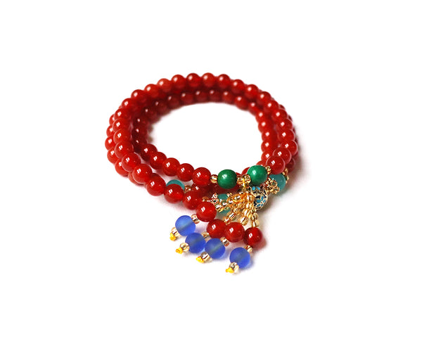Colorful Beaded Hanging Bracelet