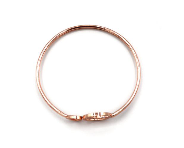 Wine Lover's Rose Gold Bangle Bracelet