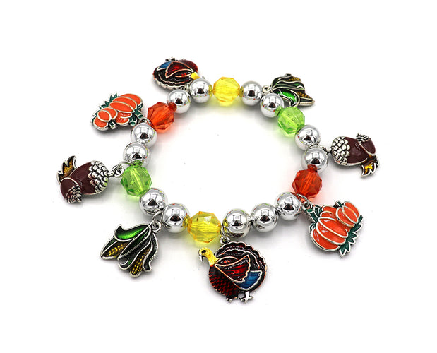 Colorful Autumn Charm Bracelet