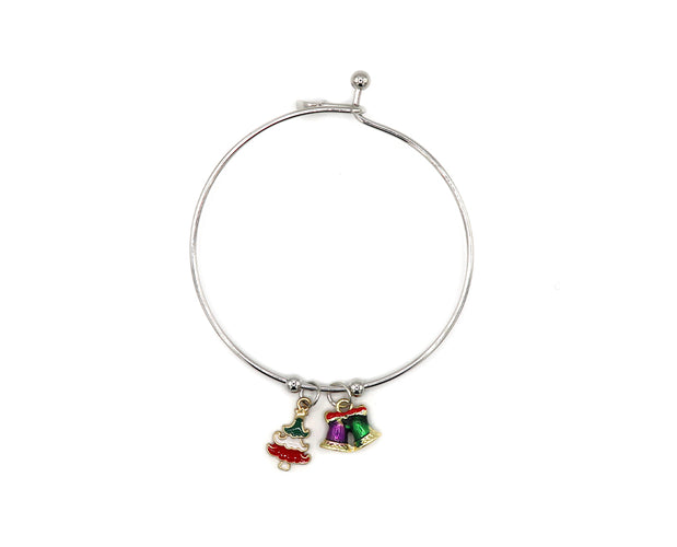Happy Holidays Bangle Charm Bracelet