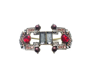 Antique Crimson Front-Open Bracelet Sales