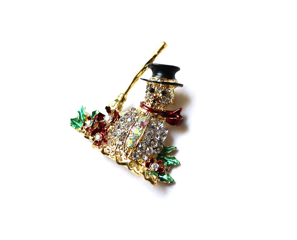 Snowman Winter Brooch