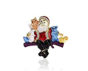 Woodland Santa Brooch