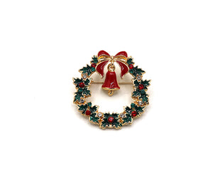 Jolly Red and Green Christmas Pin