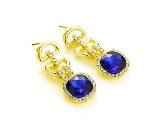 Grand Blue Hanging Earrings