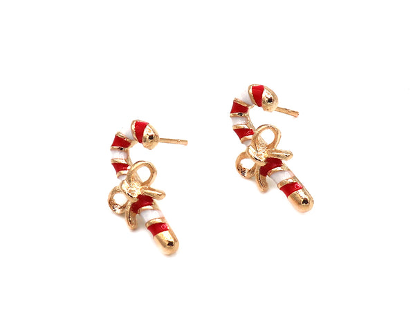 Candy Cane Stud Earrings Sales