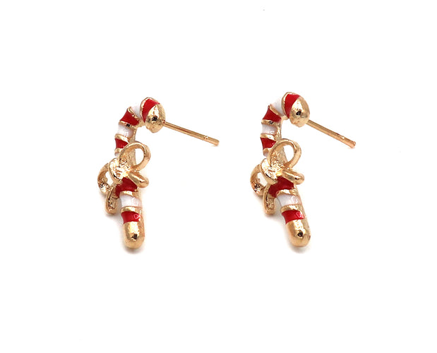 Candy Cane Stud Earrings